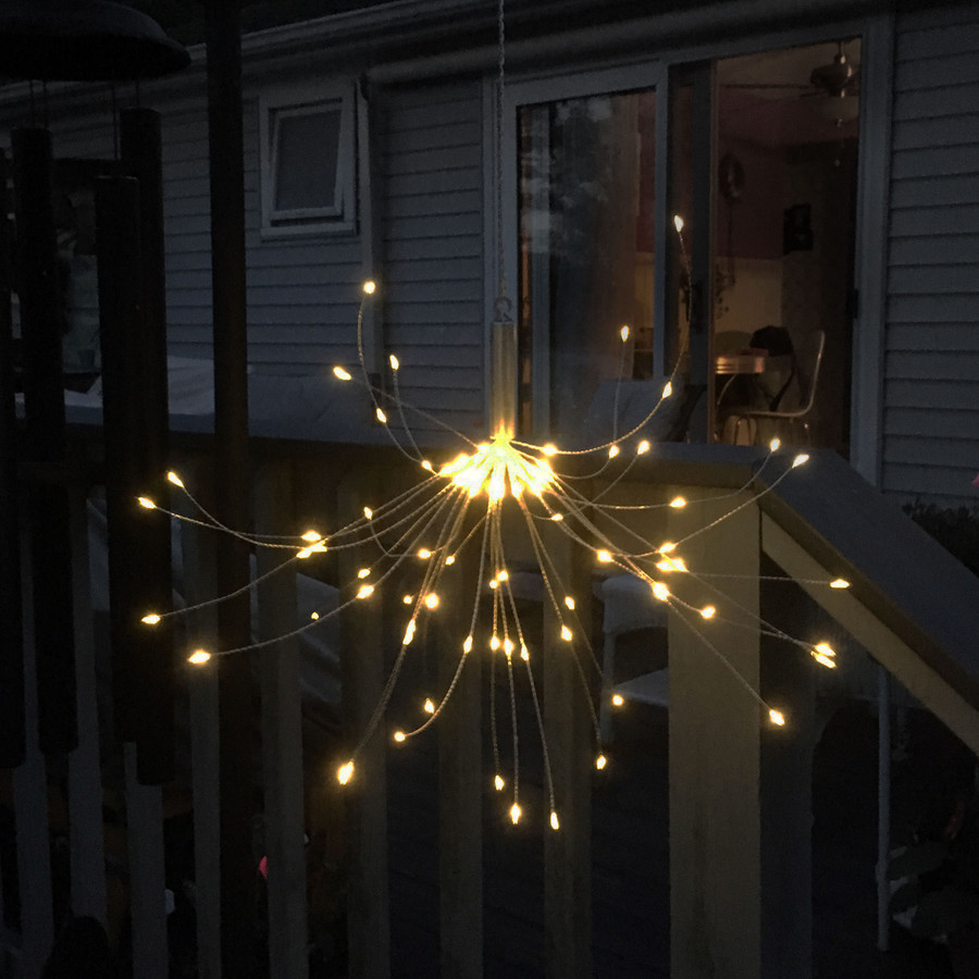 Solar Outdoor Warm White LED Starburst Lights