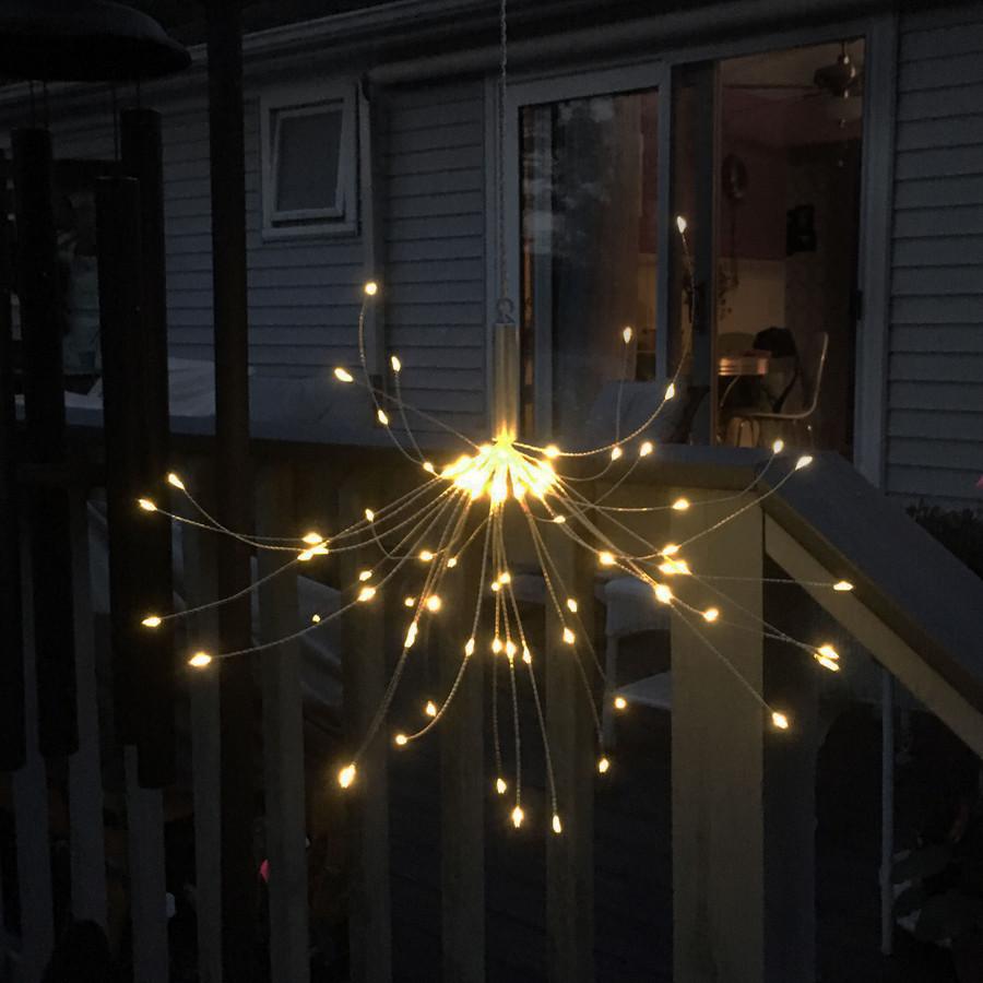 Solar Outdoor Warm White LED Starburst Lights