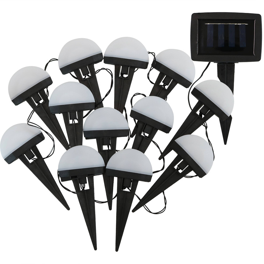 White Solar LED Landscape Path Lights