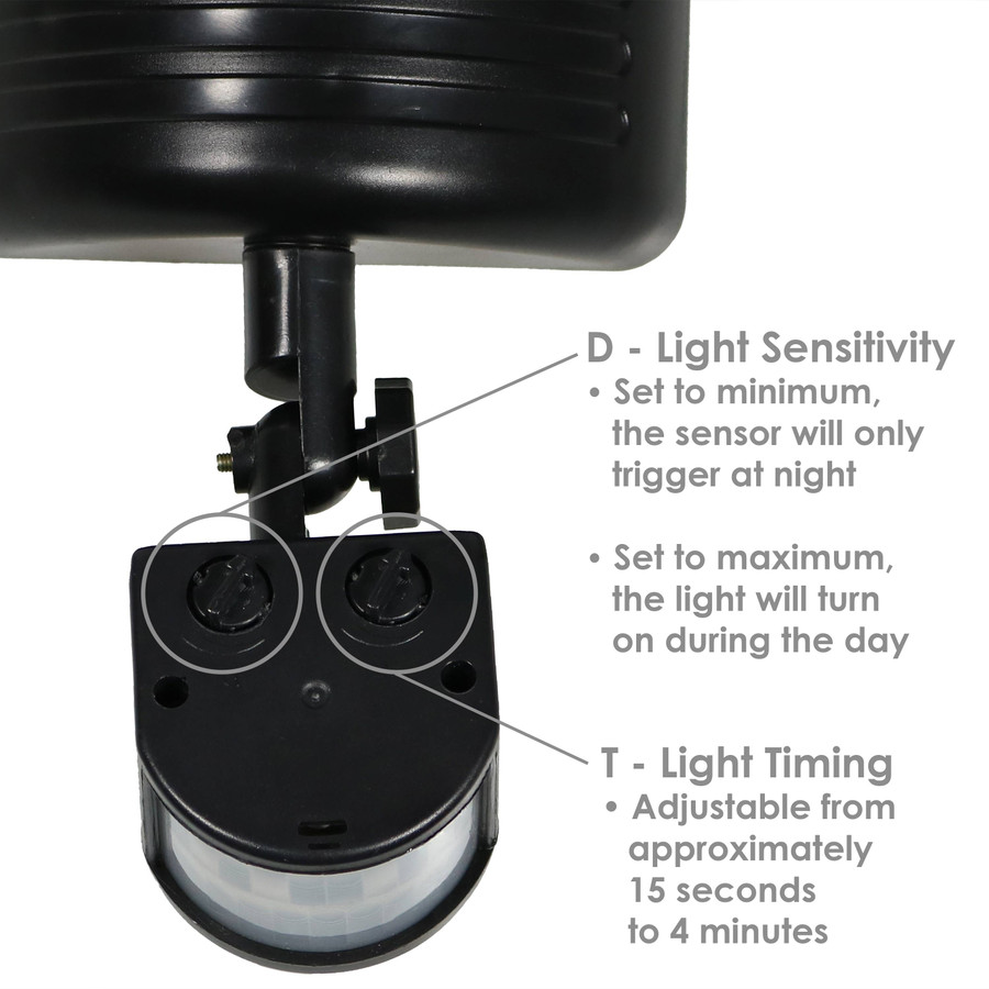 Outdoor Solar LED Motion Sensor Dual Head Security Light - Extra Features