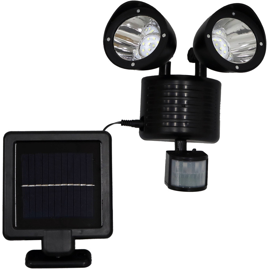 Outdoor Solar LED Motion Sensor Dual Head Security Light