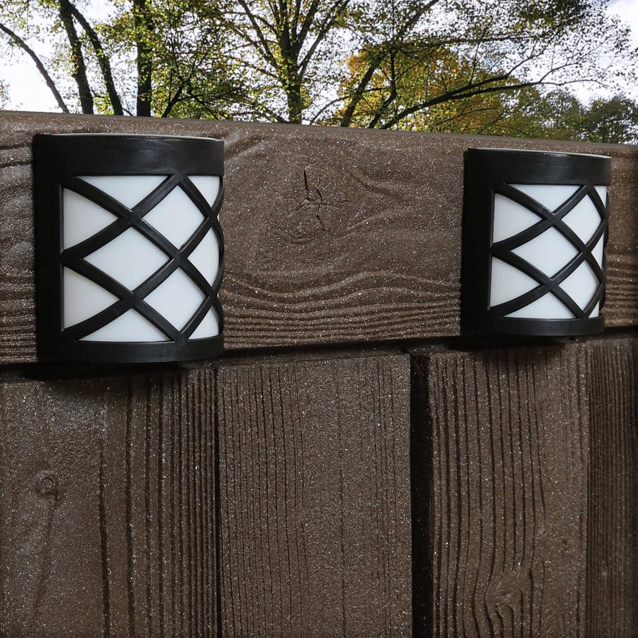Outdoor Solar LED Wall Mount Lights, Crosshatch Design