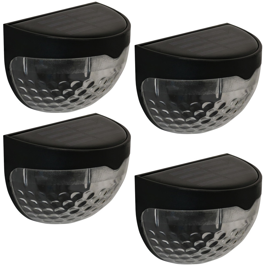 Black Semisphere Wall Mount Outdoor Solar LED Light