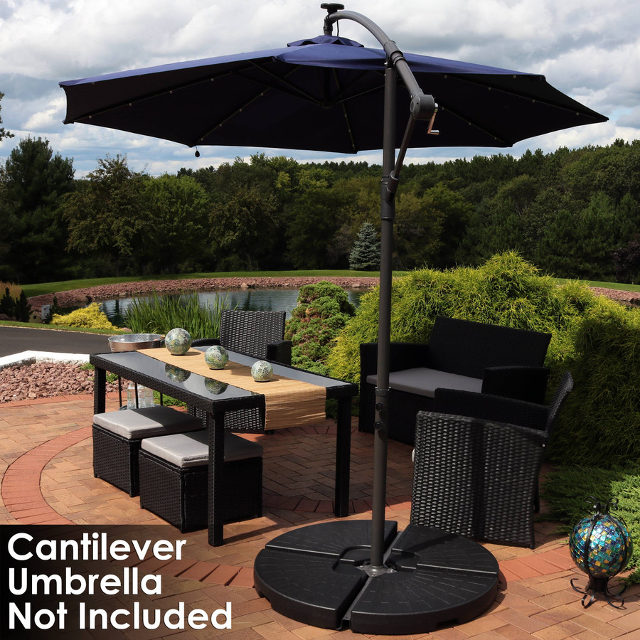 4-Pc Weight Set in Use (UMBRELLA NOT INCLUDED)