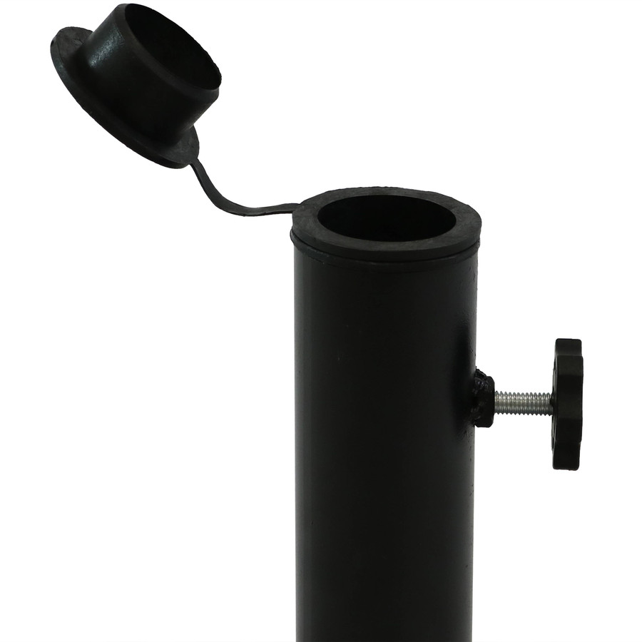 Closeup of Thumb Screw and Pole Adapter