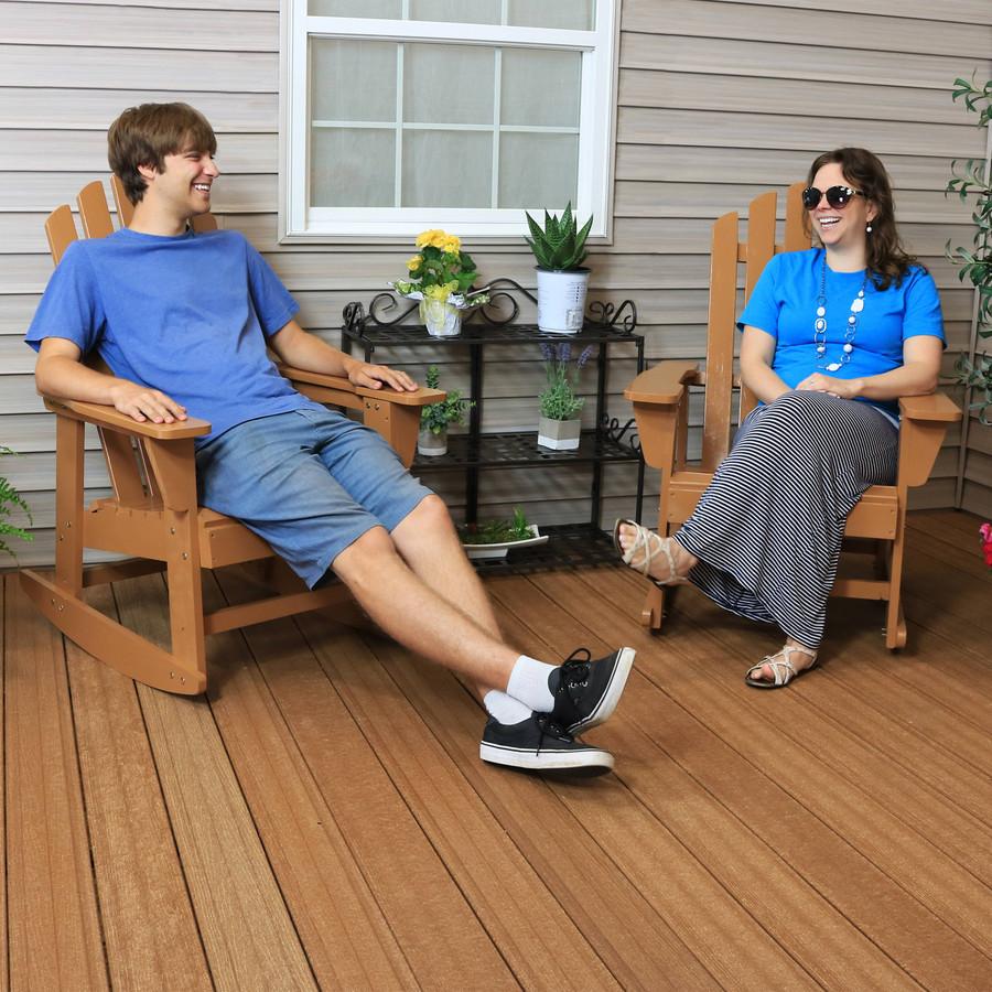 Sunnydaze Outdoor Wooden Adirondack Rocking Chair with Cedar Finish