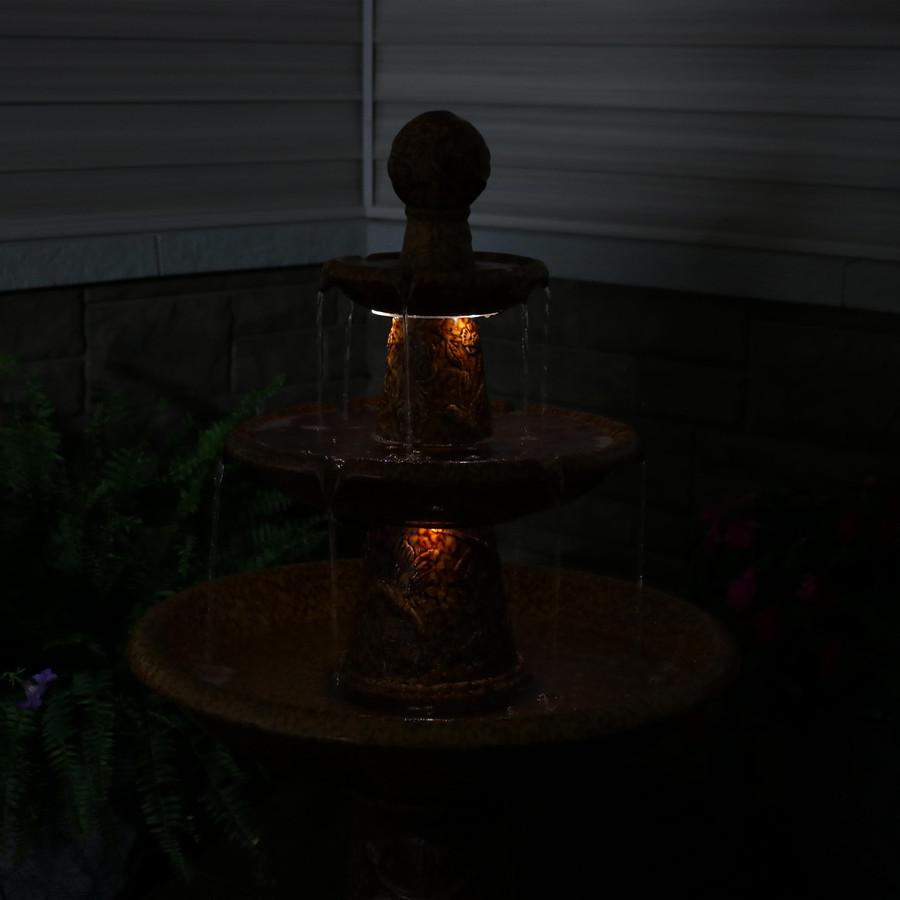 Closeup of Fountain Tiers, Nighttime
