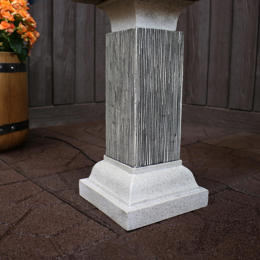 2-Tier Outdoor Bird Bath Water Fountain Bottom