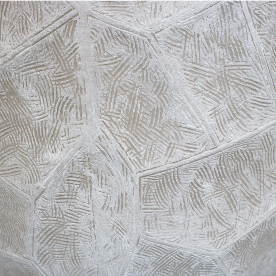 Closeup of Light Gray Planter Texture
