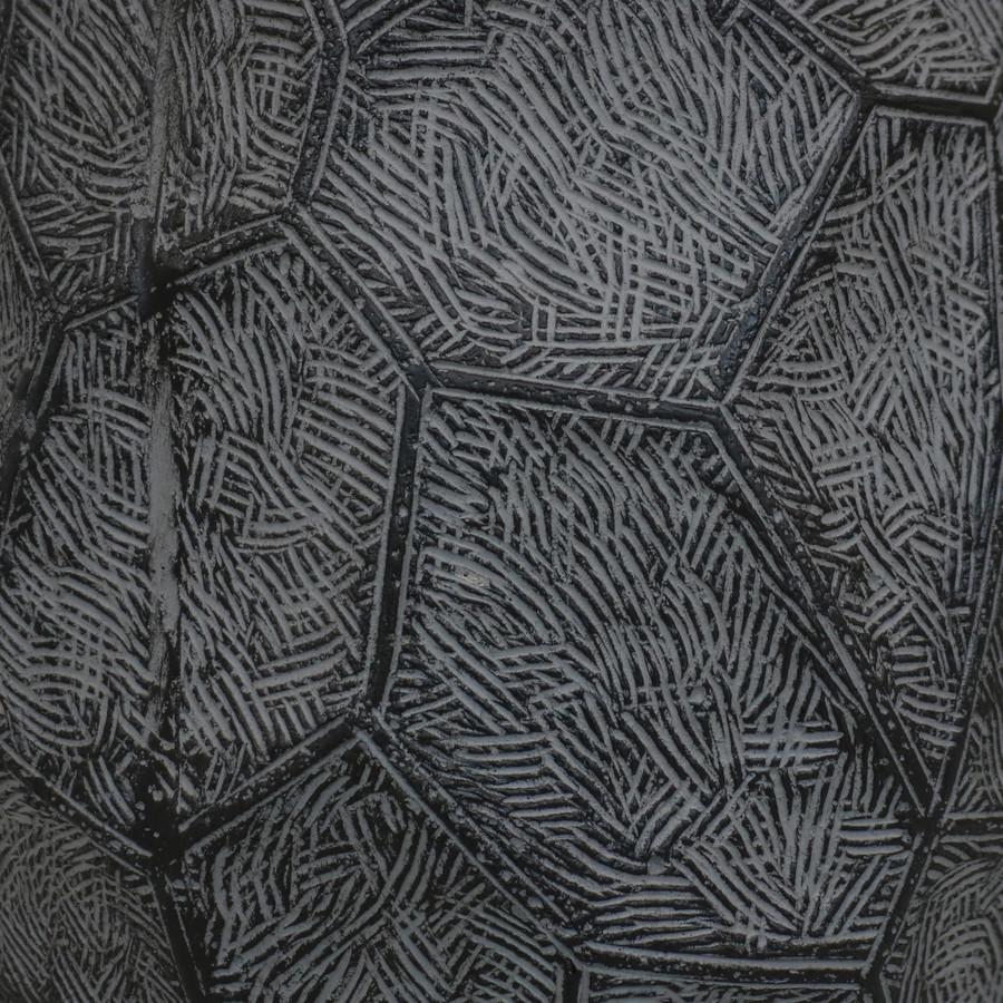 Closeup of Dark Gray Planter Texture