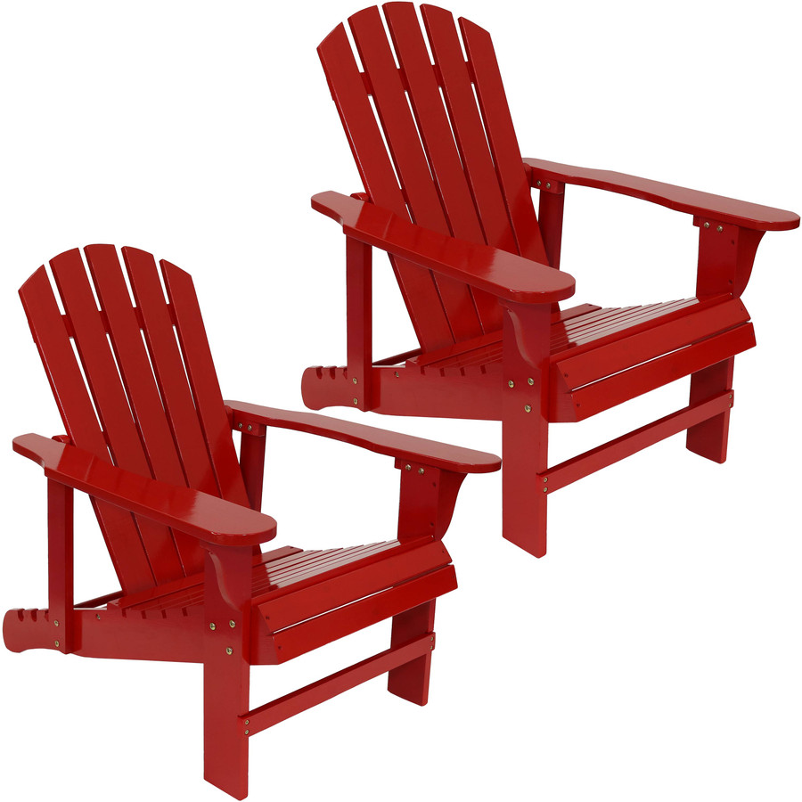 Set of Two Chairs, Red