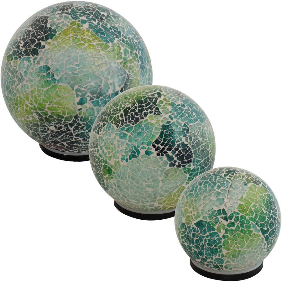 Ocean Dreams Tabletop Lighted Garden Gazing Globes