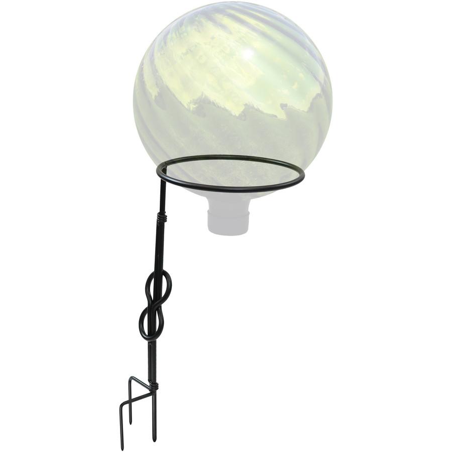 Single Stem Metal Gazing Globe Stand Shown with Gazing Globe (Note: Gazing Globe is NOT Included)