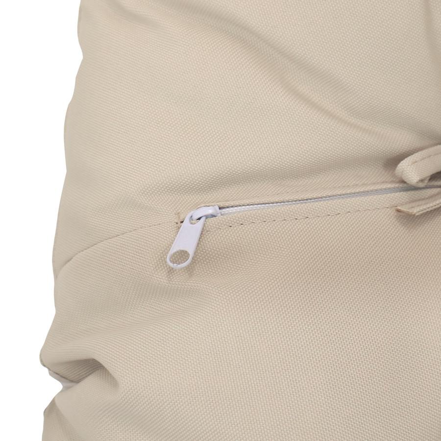 Closeup of Zipper, Beige