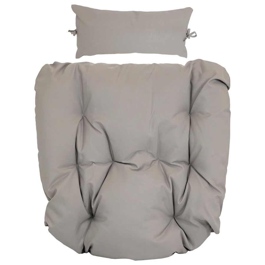 Replacement Seat Cushion and Headrest Pillow for Cordelia Egg Chair, Gray