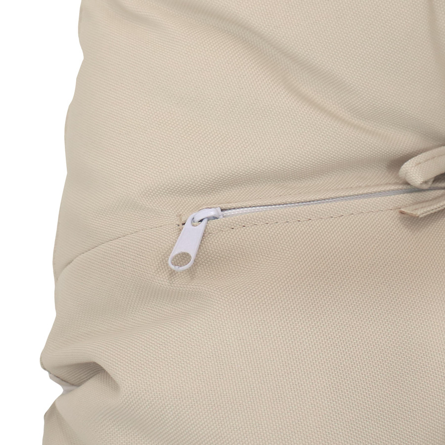 Closeup of Zipper, Beige