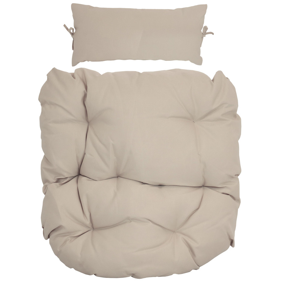 Replacement Seat Cushion and Headrest Pillow for Cordelia Egg Chair, Beige