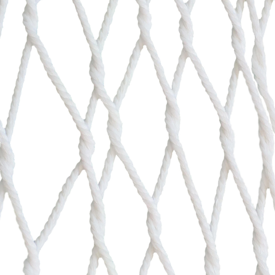Sunnydaze 2 Person Polyester Spreader Bar Rope Hammock and Pillow with 15 Foot Steel Stand, White