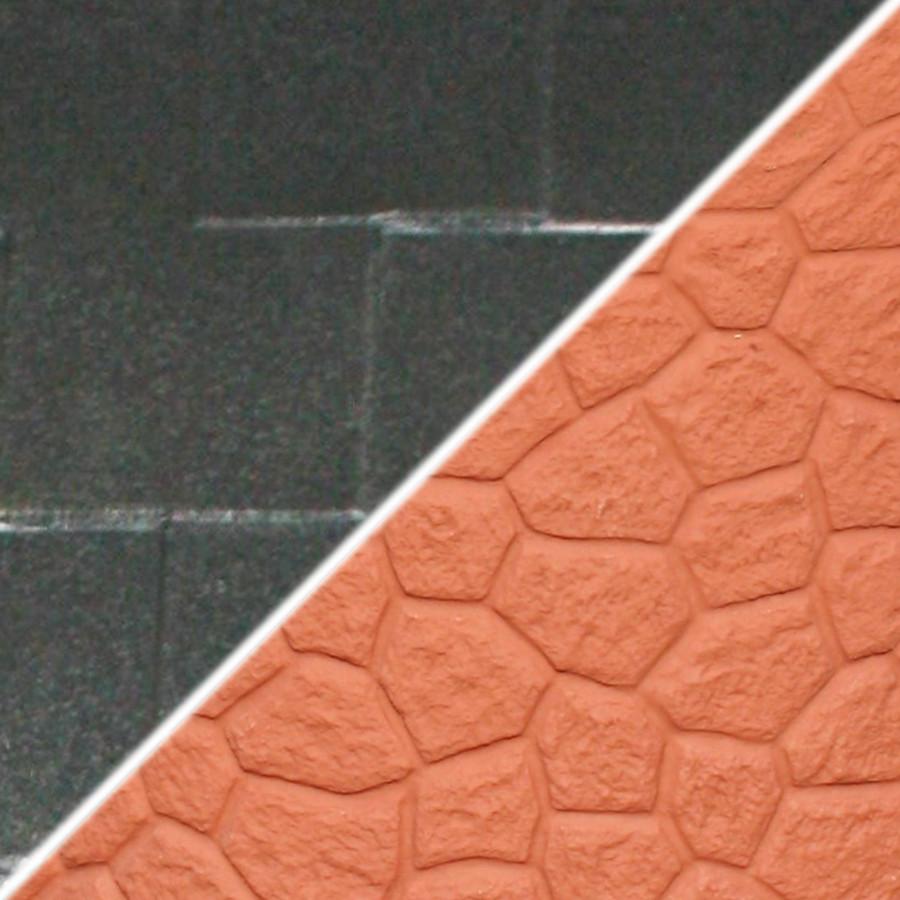 Brick Base/Dark Granite Roof Swatch