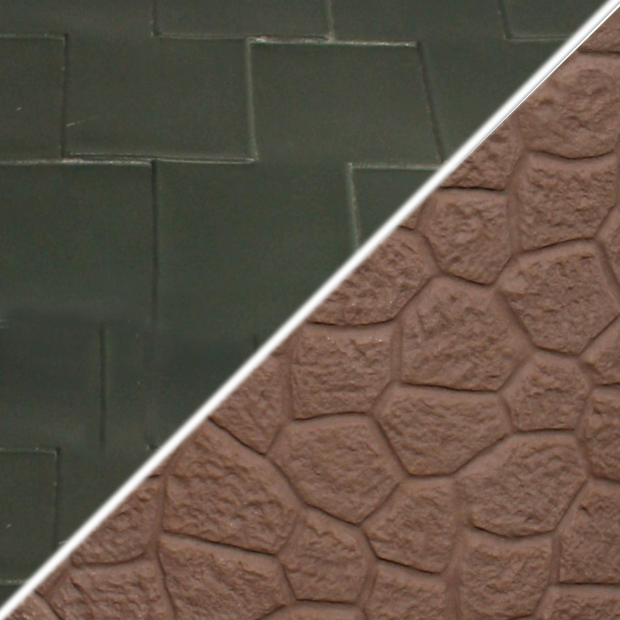 Brown Base/Hunter Green Roof Swatch