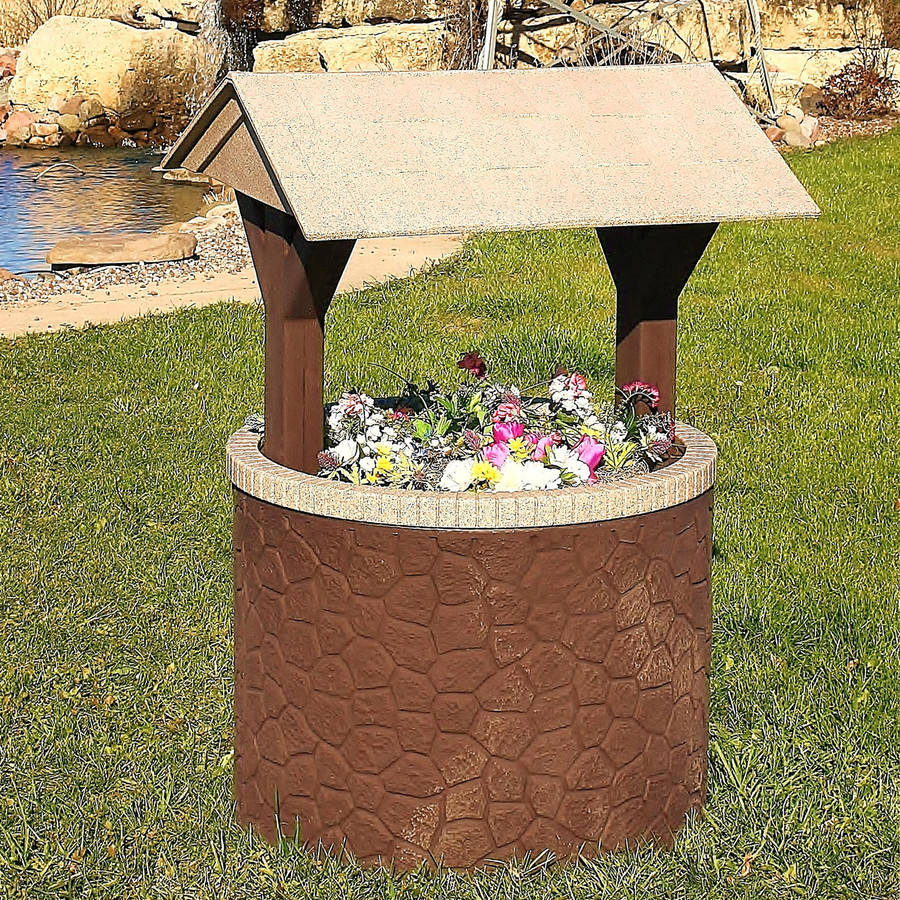 TankTop Covers Decorative Wishing Well Septic, Well, Lawn and Garden Enclosure Cover with Base and Roof