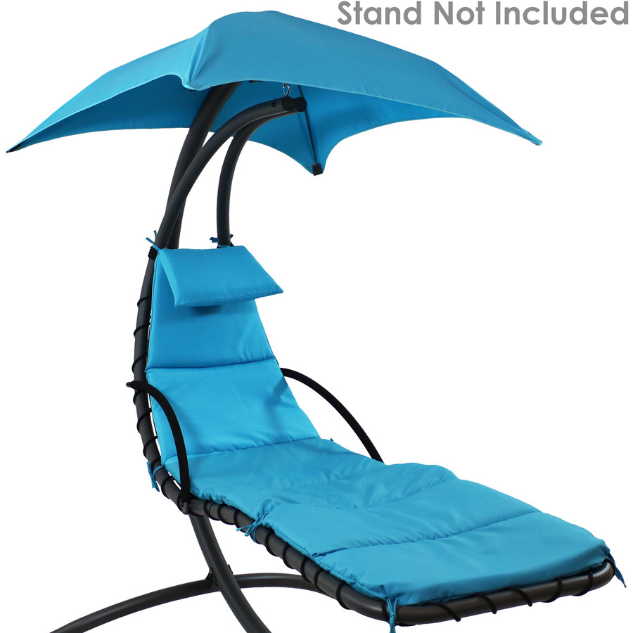 Teal Replacement Cushions Shown on Floating Chaise Lounge Chair (Chaise Lounge Chair Not Included)