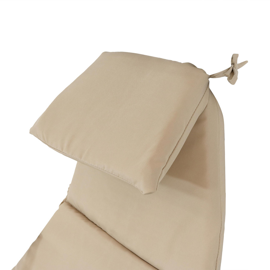 Closeup of Headrest Cushion, Beige