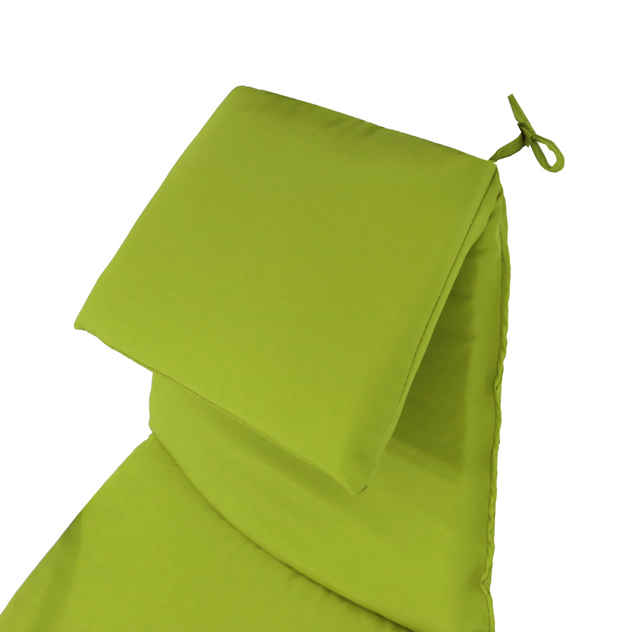Closeup of Headrest Cushion, Apple Green