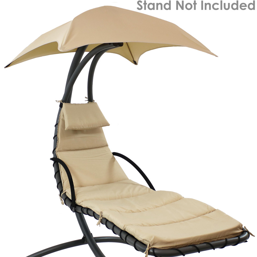 Beige Replacement Cushions Shown on Floating Chaise Lounge Chair (Chaise Lounge Chair Not Included)