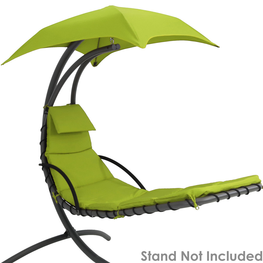 Apple Green Replacement Cushions Shown on Floating Chaise Lounge Chair (Chaise Lounge Chair Not Included)