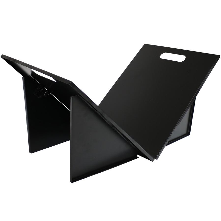 Indoor and Outdoor Folding Black Steel Log Rack