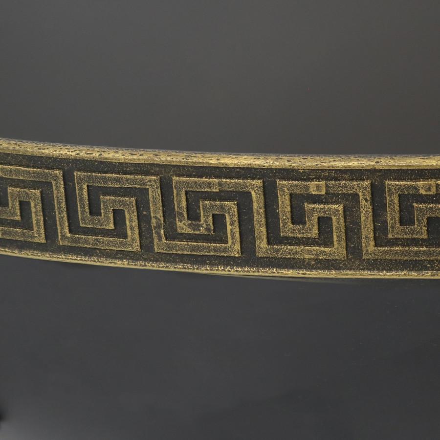 Closeup of Greek Key Pattern on Edge