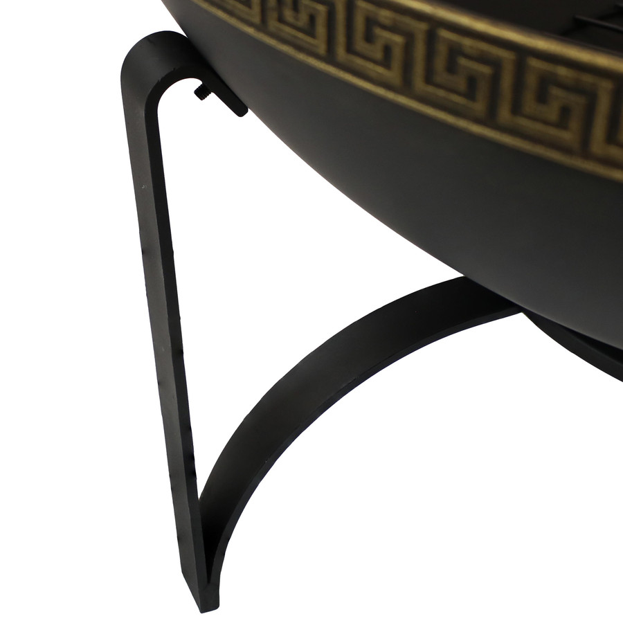 Closeup of Leg of Fire Pit Stand