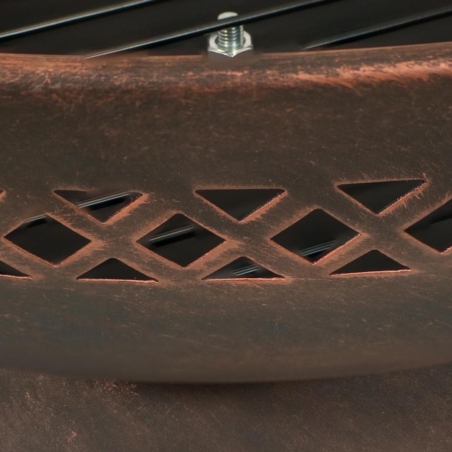 Closeup of Diamond Cutout Pattern