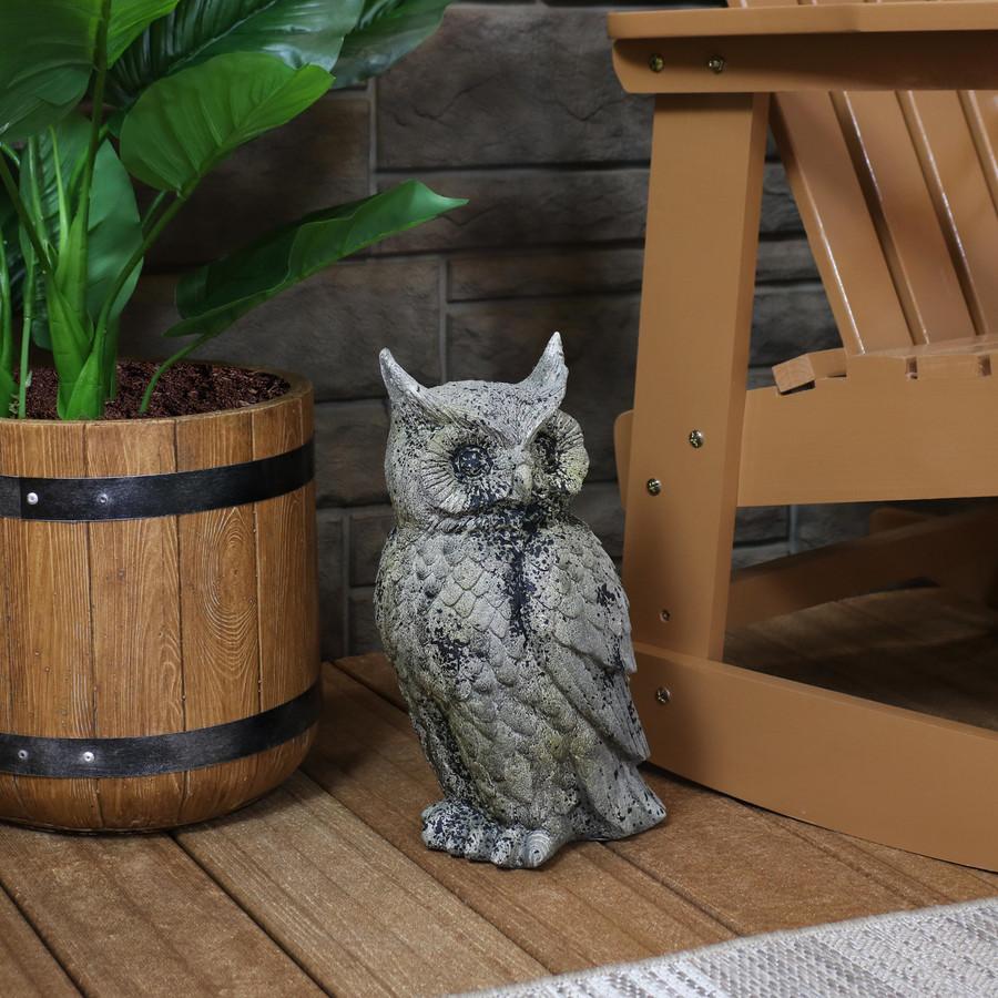 Great Horned Owl Outdoor Garden Statue
