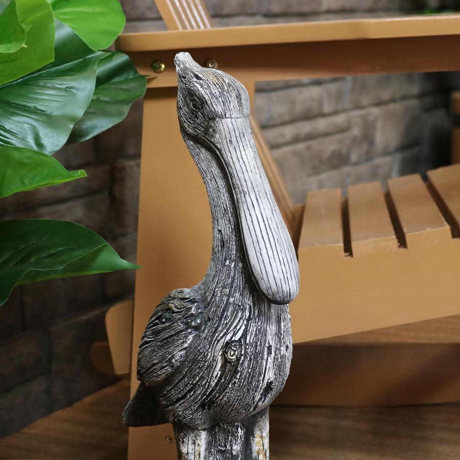 Closeup of Pelican Statue