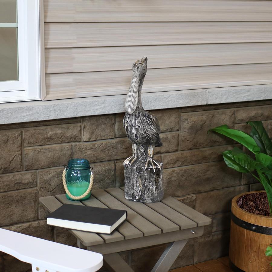 Sunnydaze Pelican's Perch Outdoor Garden Statue, 22-Inch