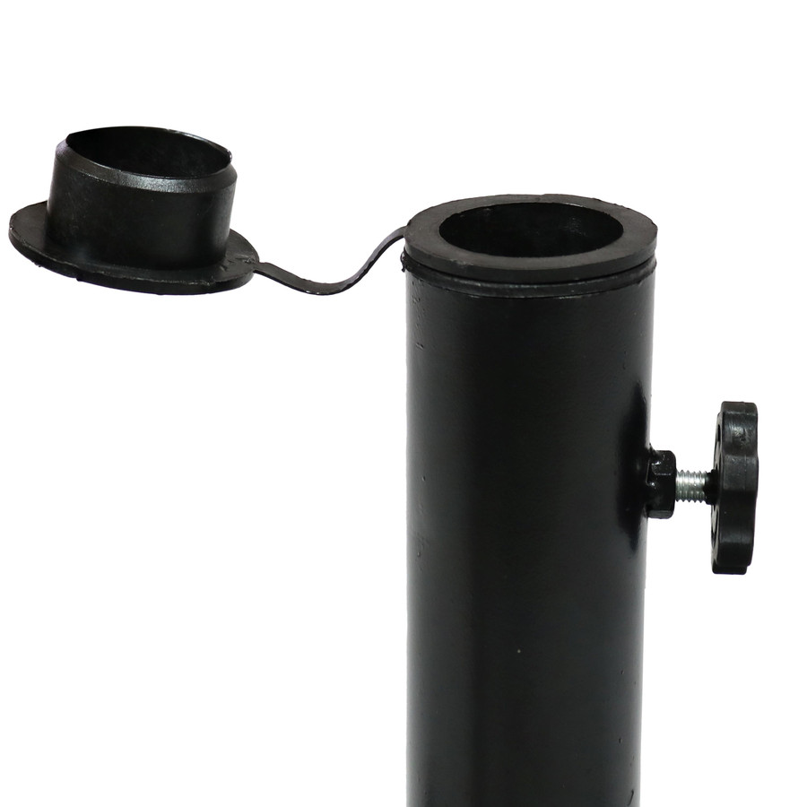 Closeup of Umbrella Base Pole Adapter