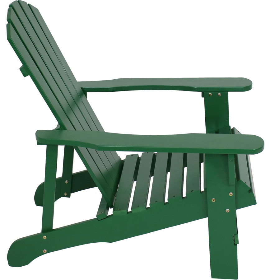 Sunnydaze Coastal Bliss Outdoor Wooden Adirondack Patio Chair, Multiple Color Options Available