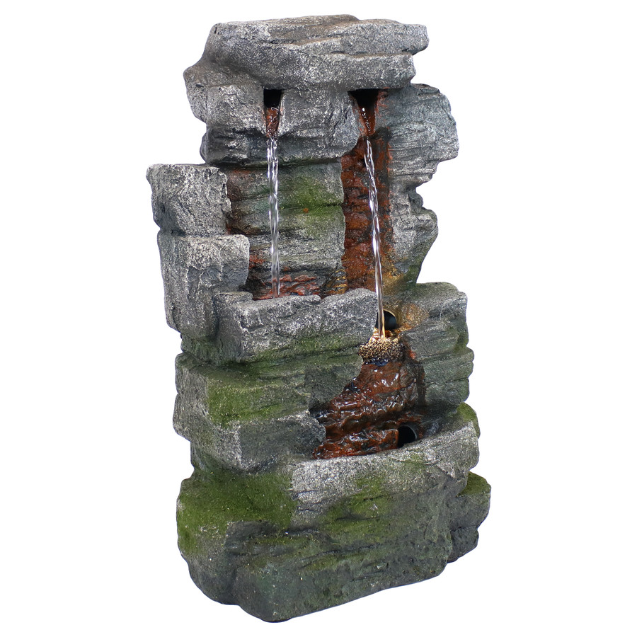 Towering Cave Waterfall Indoor Tabletop Water Fountain