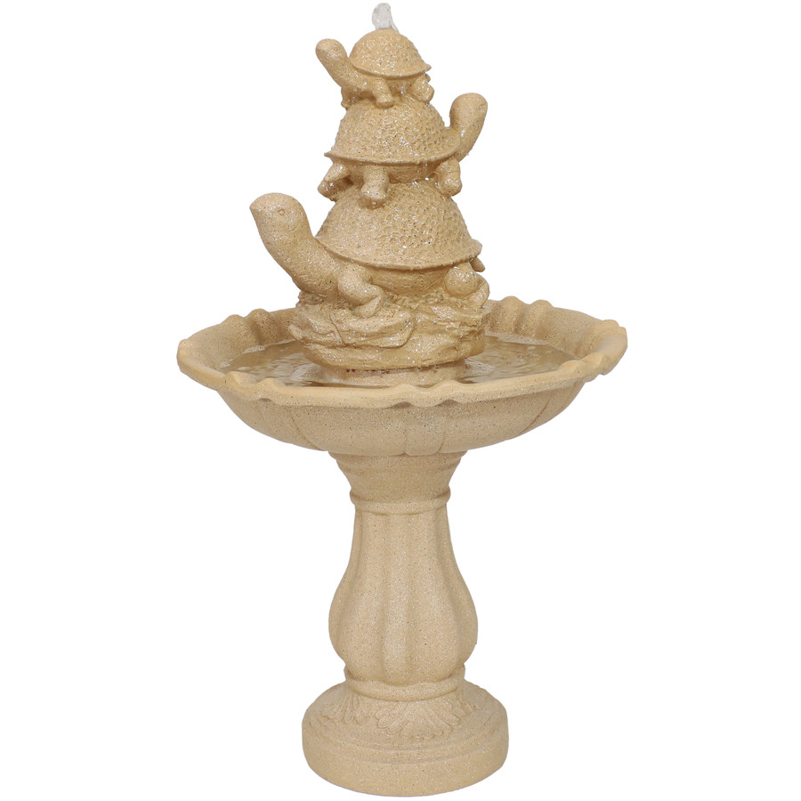 Sunnydaze Turtle Trio Outdoor Water Fountain, 37-Inch