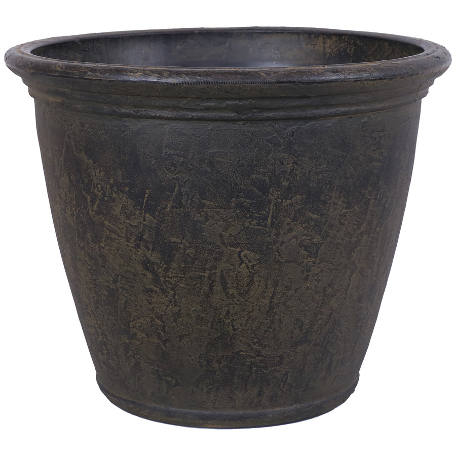 Anjelica Indoor and Outdoor Resin Planter with Sable Finish, Single Planter