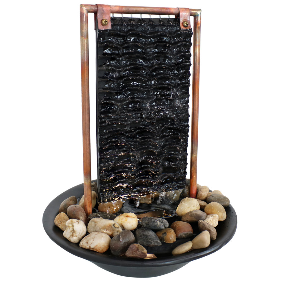 Sunnydaze Billowing Slate Tabletop Water Fountain