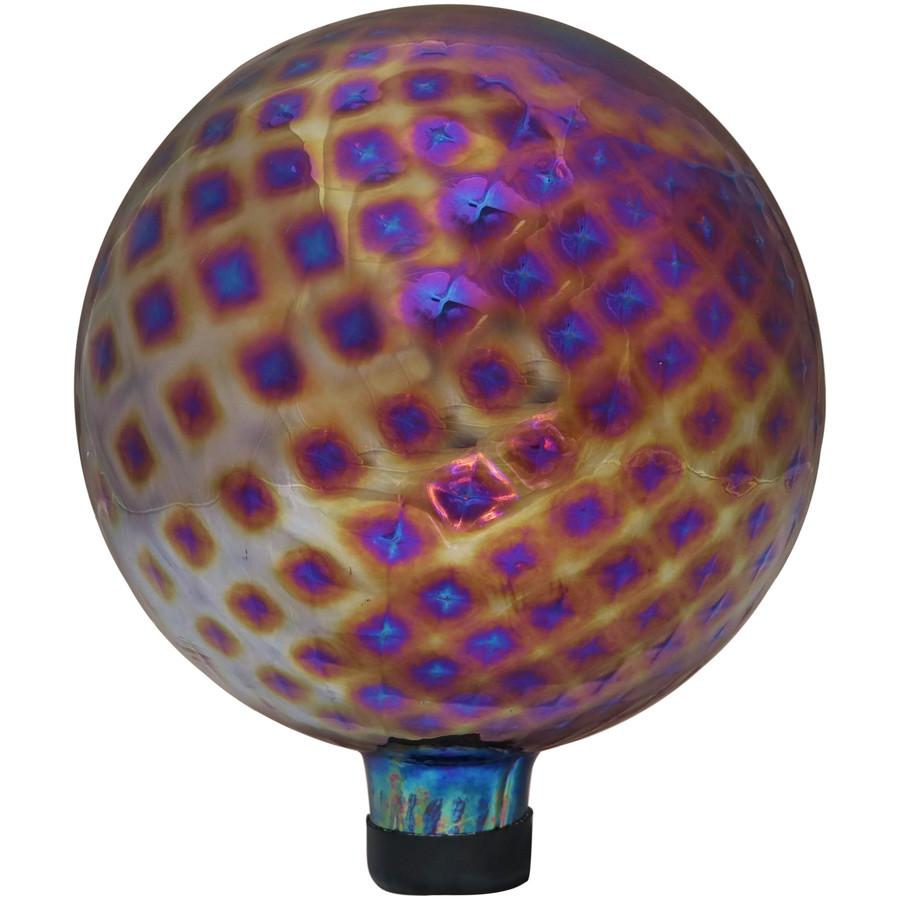 Sunnydaze Jewel Tone Trellis Outdoor Garden Gazing Globe, 10-Inch