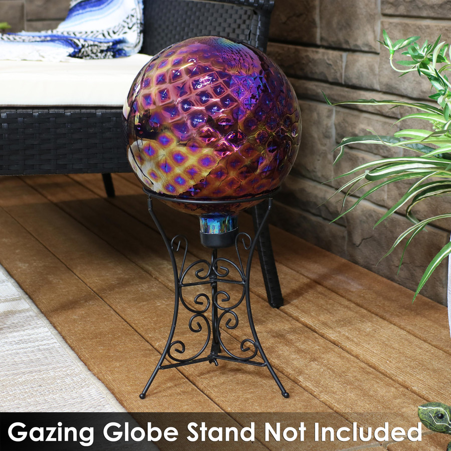 Gazing globe stand is not included