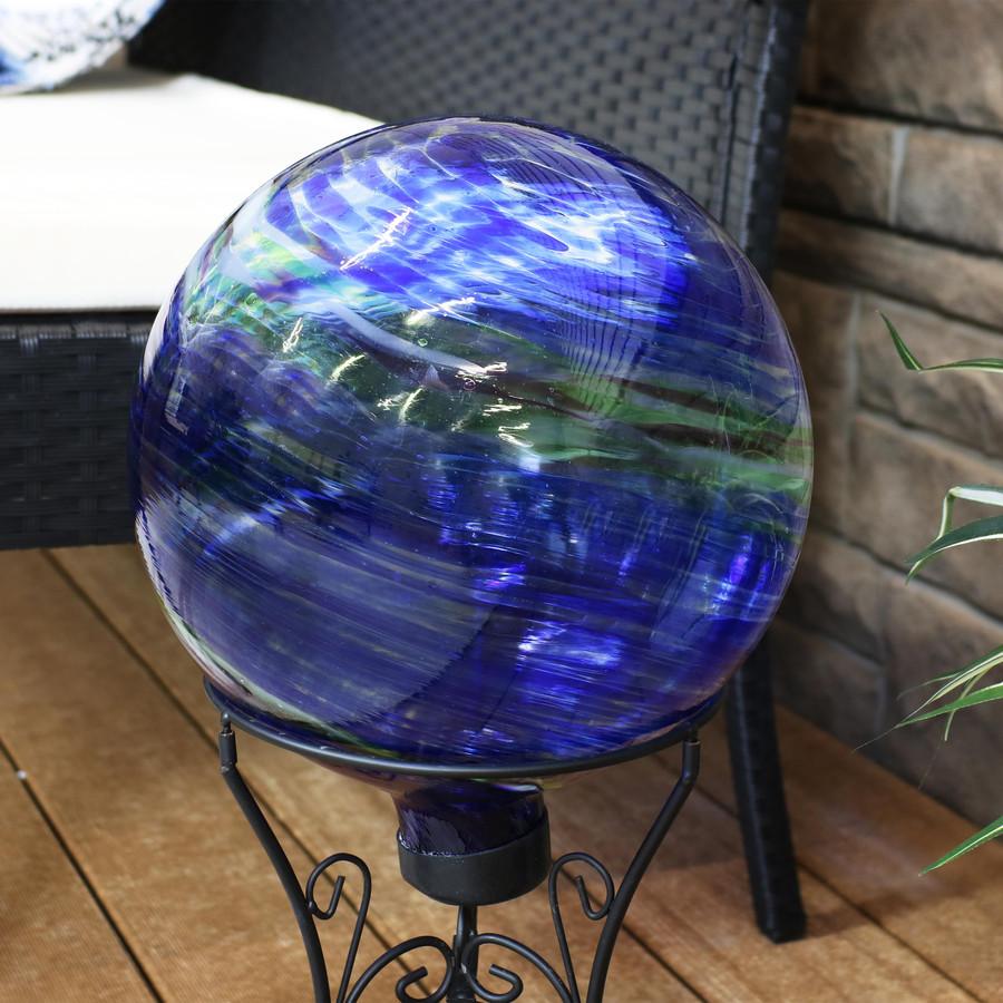 Sunnydaze Northern Lights Outdoor Garden Gazing Globe, 10-Inch Lifestyle