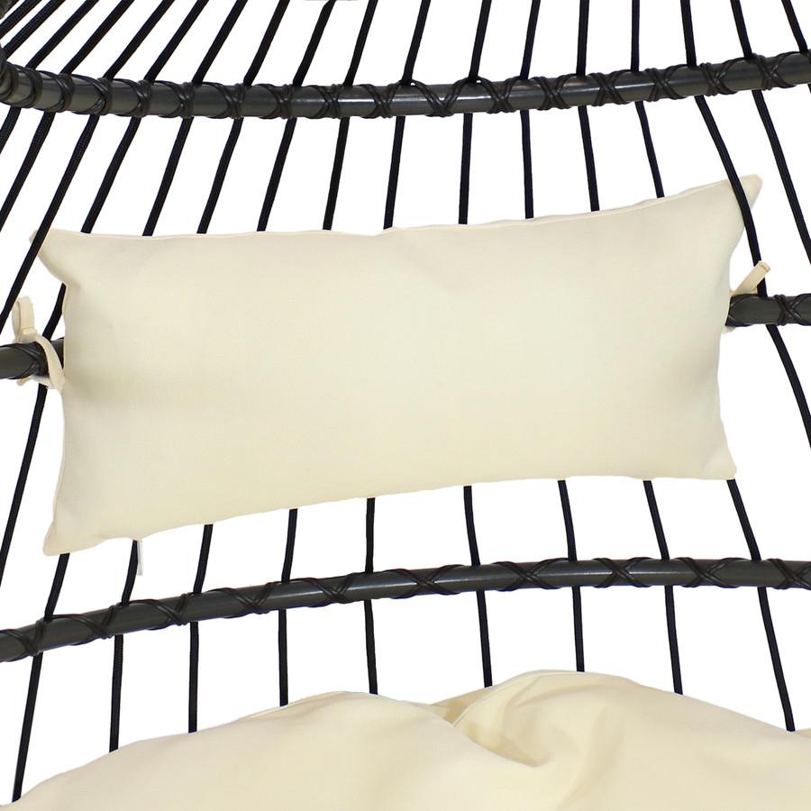 Closeup of Headrest Cushion, Cream