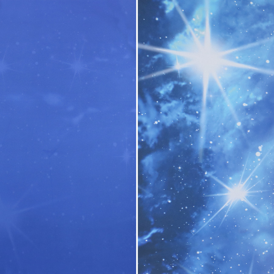 Blue Starry Galaxy Patio Umbrella Swatch