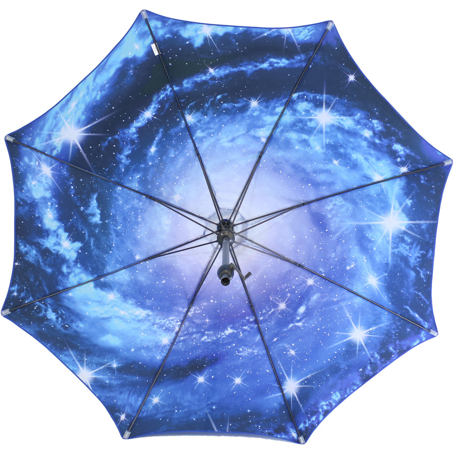 Underside of the Blue Starry Galaxy Patio Umbrella