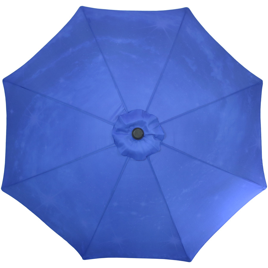 Overhead View of the Blue Starry Galaxy Patio Umbrella